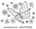 color coloring page for adults...   Shutterstock .eps vector #696754396