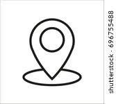 vector flat icon geolocation