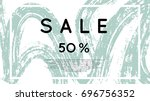 social media sale banner with... | Shutterstock .eps vector #696756352