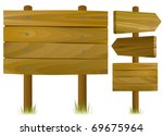 wooden road signs   Shutterstock .eps vector #69675964