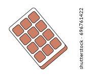 sweet chocolate bar | Shutterstock .eps vector #696761422