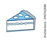 delicious piece of cake | Shutterstock .eps vector #696762688