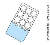 sweet chocolate bar | Shutterstock .eps vector #696762736