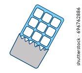 sweet chocolate bar | Shutterstock .eps vector #696762886