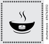 hot soup icon | Shutterstock .eps vector #696763552