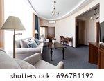 hotel apartment  living room... | Shutterstock . vector #696781192