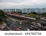 A Train Leaving Yishun Mrt...