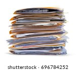 files stacked side view...   Shutterstock . vector #696784252