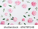 Frame Of Pink Peony Flowers ...