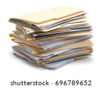 files stacked in a pile... | Shutterstock . vector #696789652