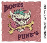 bones punks vector illustration....   Shutterstock .eps vector #696791182