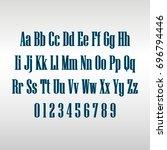 linear alphabet | Shutterstock .eps vector #696794446