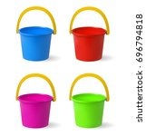 colored baby buckets. a set of... | Shutterstock .eps vector #696794818