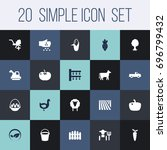 set of 20 agriculture icons set.... | Shutterstock .eps vector #696799432