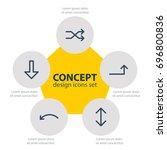 vector illustration of 5 arrows ... | Shutterstock .eps vector #696800836
