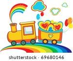 Fairy Rainbow Train With Happy...
