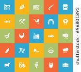 set of 25 agriculture icons set.... | Shutterstock .eps vector #696801892