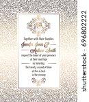 vintage baroque style wedding... | Shutterstock . vector #696802222