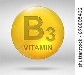vitamin b3. niacin vitamin drop ... | Shutterstock .eps vector #696805432