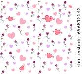 seamless wallpaper vector... | Shutterstock .eps vector #696812542