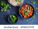 traditional indian british dish ... | Shutterstock . vector #696813745