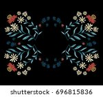 embroidery native pattern with... | Shutterstock .eps vector #696815836