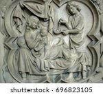 bas relief of the saint...   Shutterstock . vector #696823105