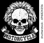 skull t shirt graphic design   Shutterstock .eps vector #696824356