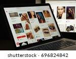 milan  italy   august 10  2017  ... | Shutterstock . vector #696824842