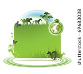 green earth background with... | Shutterstock .eps vector #69683038