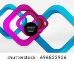 squares geometric shapes in... | Shutterstock .eps vector #696833926