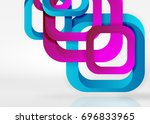 squares geometric shapes in... | Shutterstock .eps vector #696833965