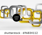 squares geometric shapes in... | Shutterstock .eps vector #696834112