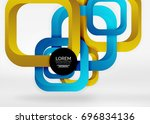 squares geometric shapes in... | Shutterstock .eps vector #696834136