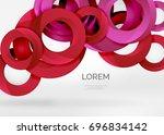 modern 3d ring composition in... | Shutterstock .eps vector #696834142