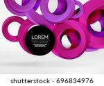 modern 3d ring composition in... | Shutterstock .eps vector #696834976