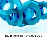 modern 3d ring composition in... | Shutterstock .eps vector #696835036