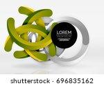 modern 3d ring composition in... | Shutterstock .eps vector #696835162