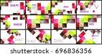 modern geometric presentation... | Shutterstock .eps vector #696836356