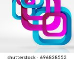 squares geometric shapes in...   Shutterstock . vector #696838552