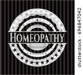 homeopathy silver shiny emblem | Shutterstock .eps vector #696847042