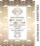vintage baroque style wedding... | Shutterstock . vector #696847882