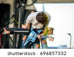 Small photo of BENICASSIM, SPAIN - JUL 15: The Soft Moon (American post-punk band) perform in concert at FIB Festival on July 15, 2016 in Benicassim, Spain.