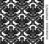 damask seamless pattern... | Shutterstock . vector #696859672