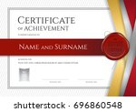 luxury certificate template... | Shutterstock .eps vector #696860548