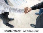 business situation job... | Shutterstock . vector #696868252