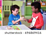 "boys in kindergarten "" rock... 