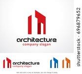 architecture logo template... | Shutterstock .eps vector #696879652