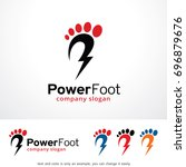 power foot logo template design ... | Shutterstock .eps vector #696879676
