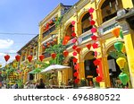 hoian ancient town houses.... | Shutterstock . vector #696880522